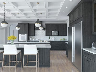 Kitchen remodel dark colors