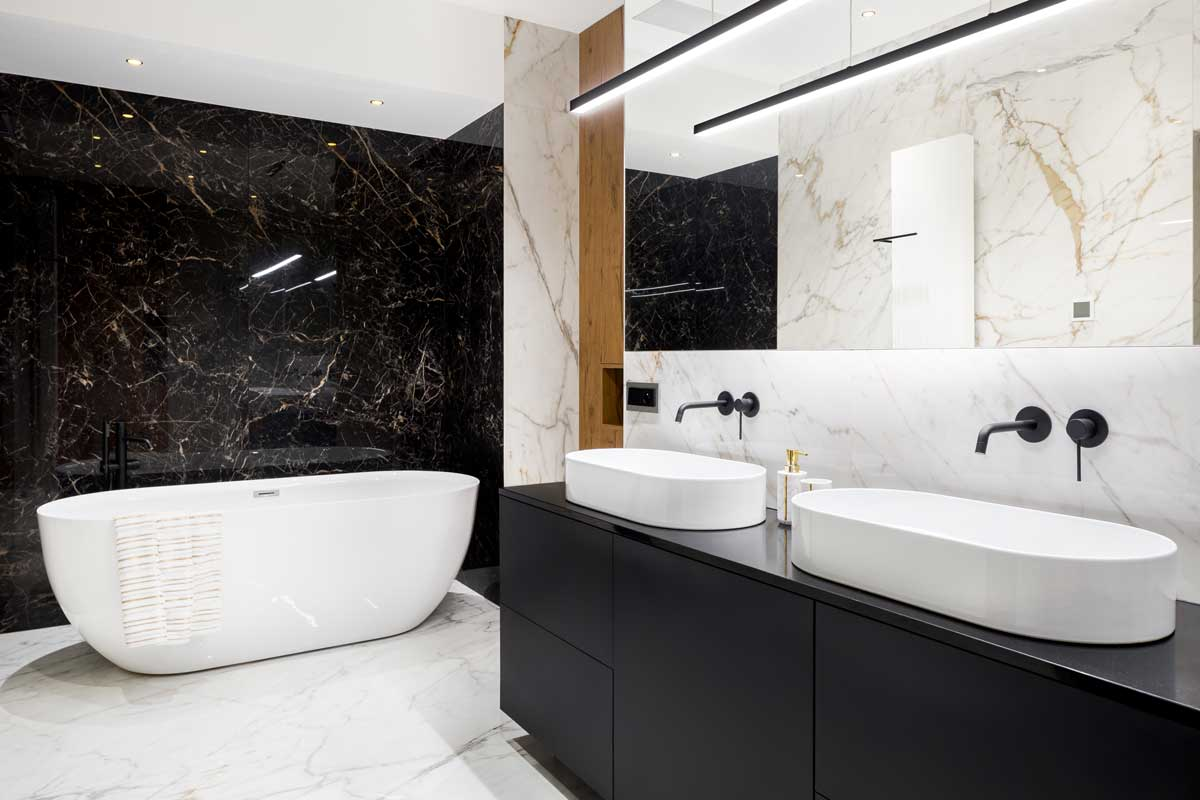 natural bathroom materials look and feel luxe